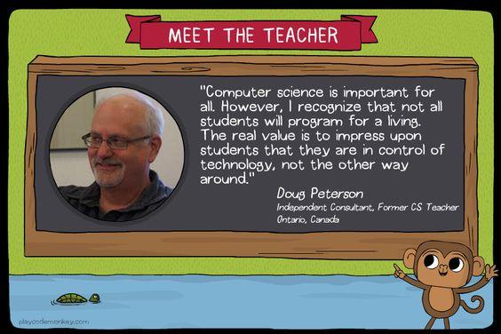 meet the teacher Doug Peterson