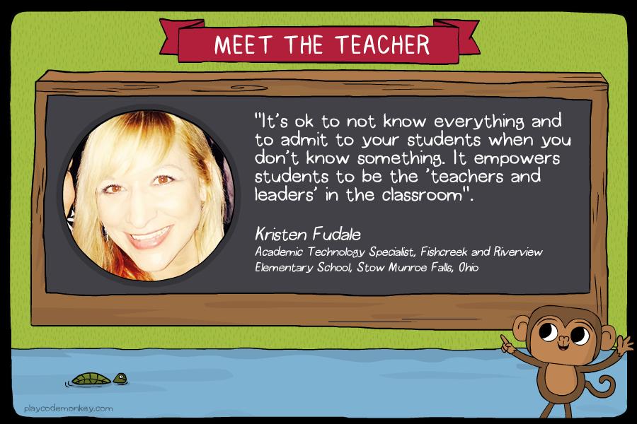 meet the teacher Kristen Fudale