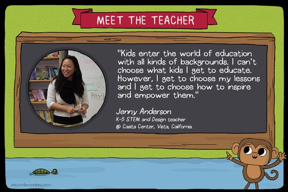 meet the teacher Jenny Anderson
