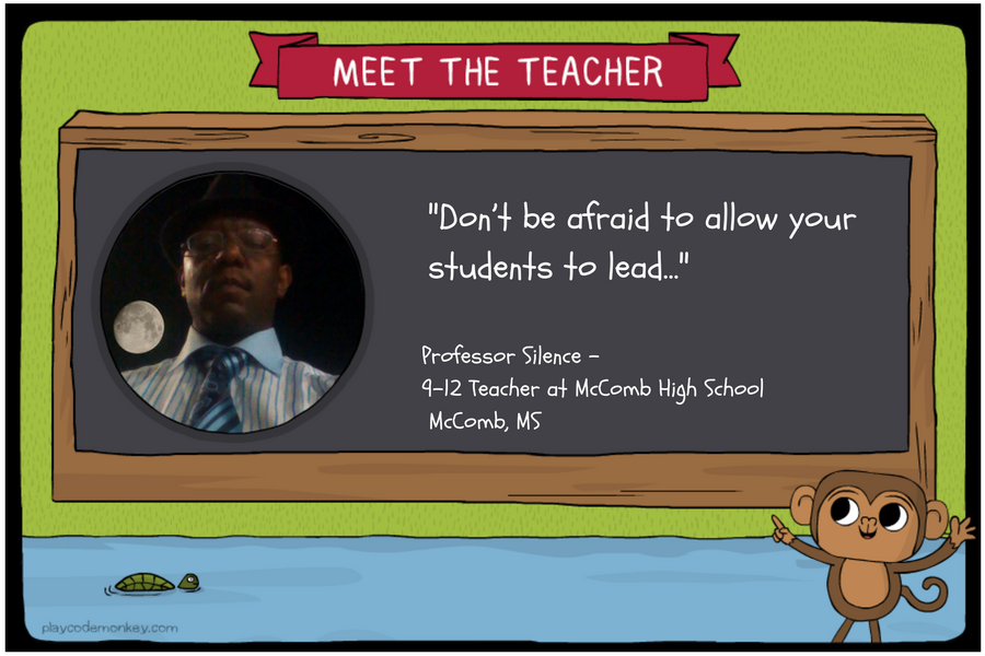 meet the teacher Professor Silence