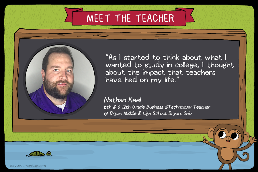 meet the teacher Nathan Keel