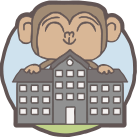 Monkey and school