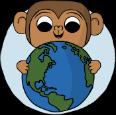 Monkey holding the world