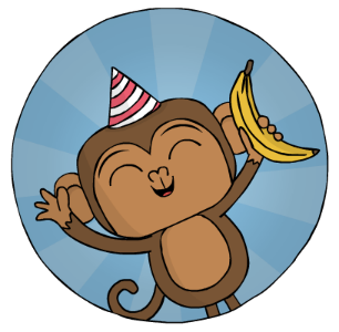 Birthday monkey with banana