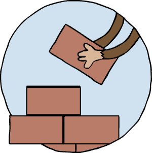 monkey building blocks