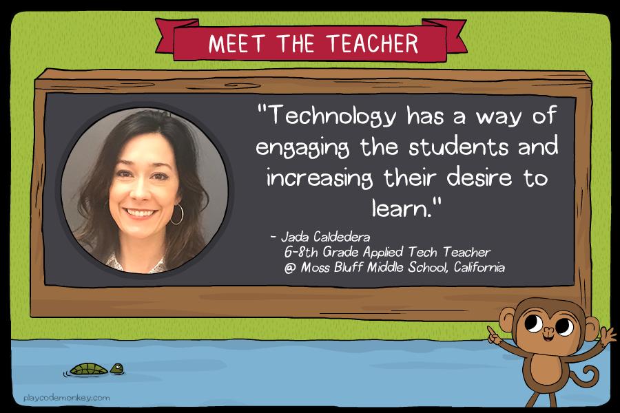 meet the teacher Jada Caldarera