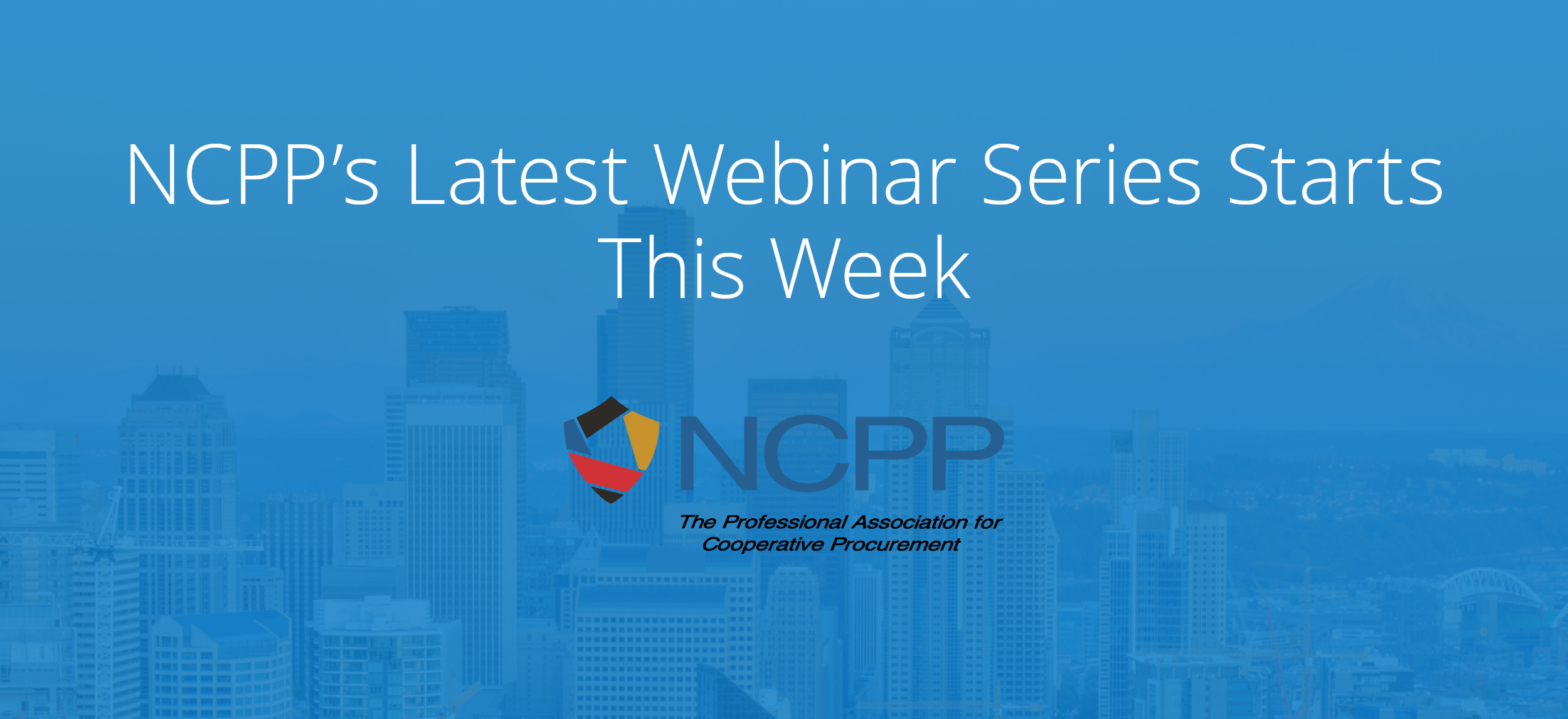 Register for NCPP's Free Emergency Preparedness Webinar Series