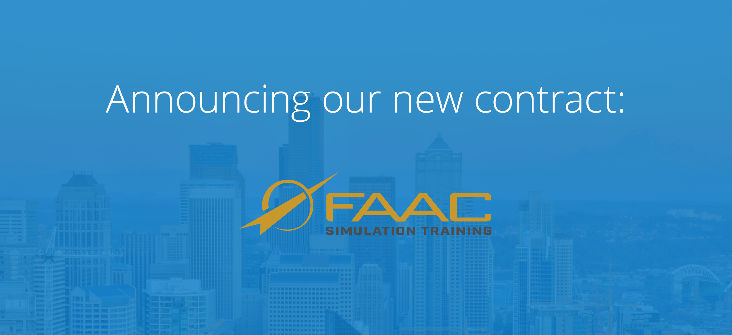 Announcing FAAC Incorporated: Our Newest Contract