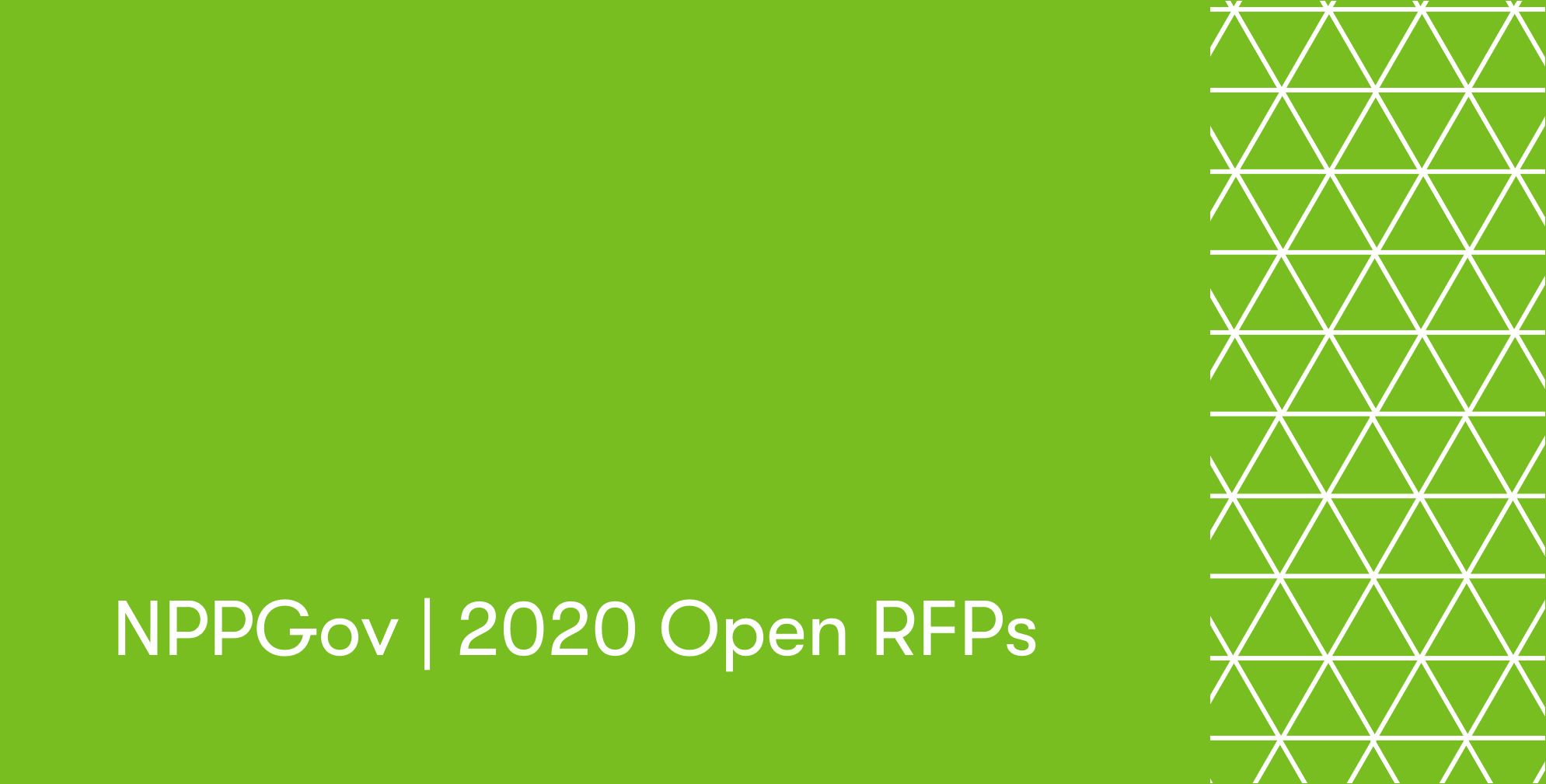 NPPGov 2020 RFP Announcement