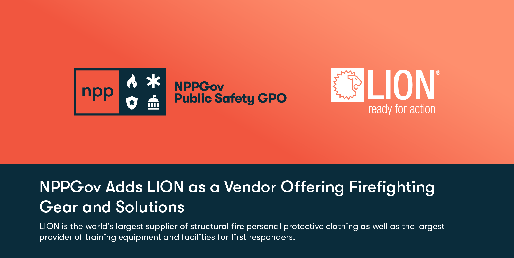 NPPGov Adds LION as a Vendor Offering Firefighting Gear and Solutions