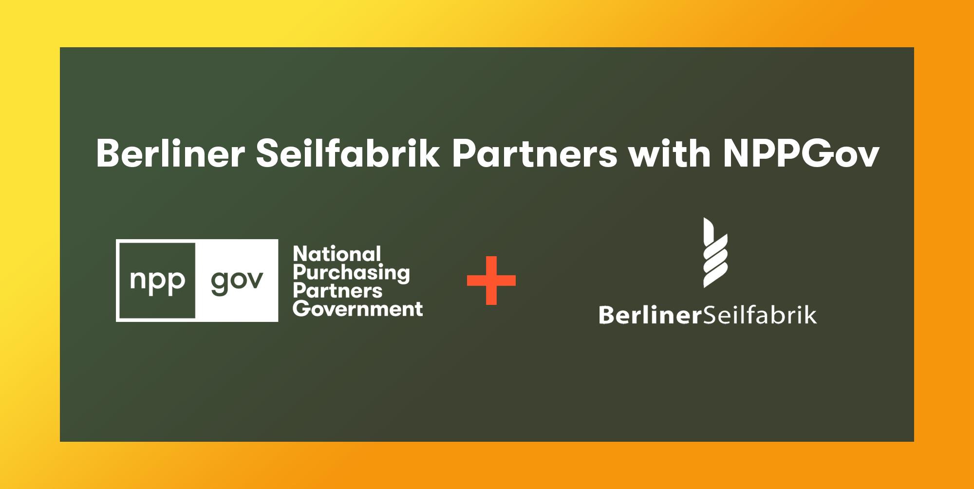 Berliner Seilfabrik Play Equipment Partners with NPPGov