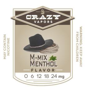 M-mix Menthol eliquid