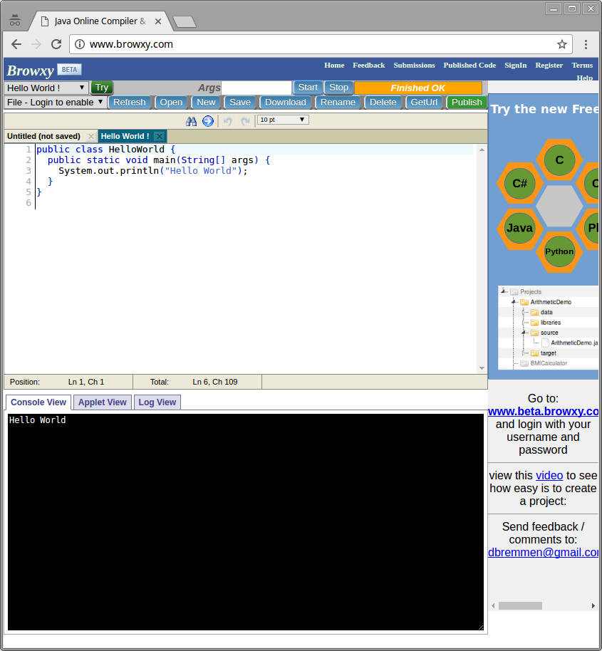 Web Integrated Development Environment - code57