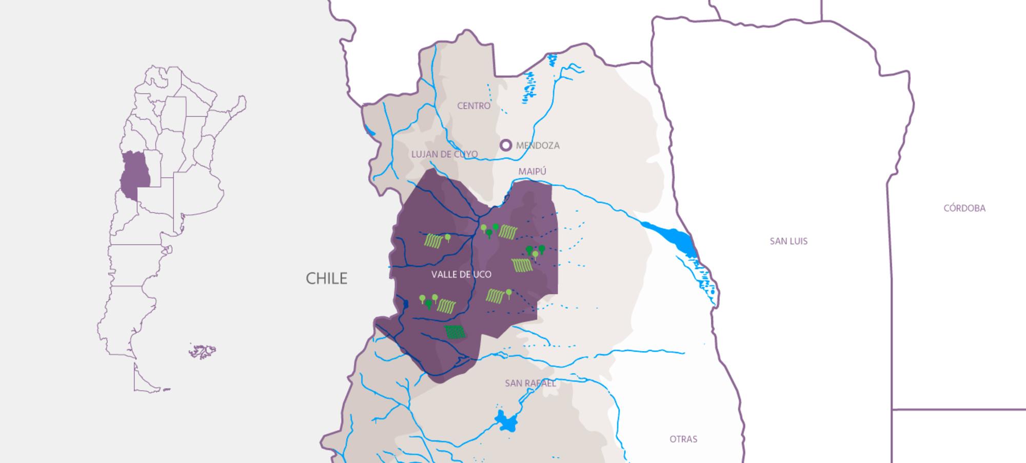 Zona valle de uco