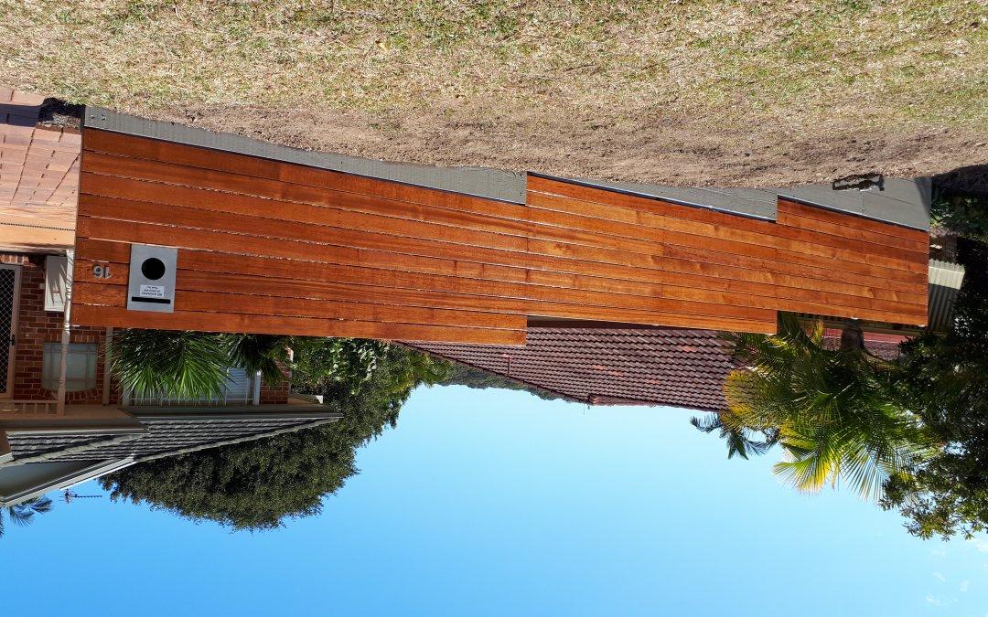 Hardwood timber screening Boambee- East August 2018