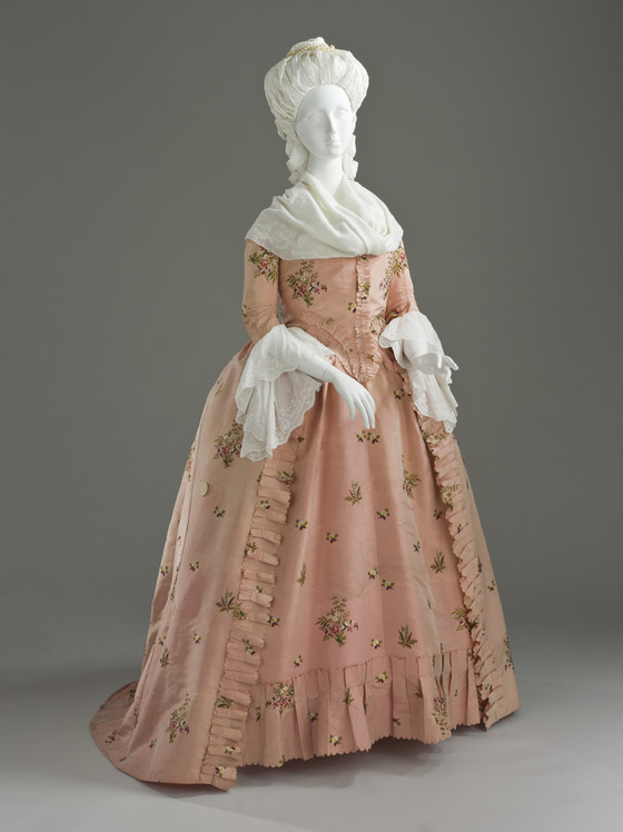 Woman S Dress And Petticoat Robe 224 L Anglaise Lacma
