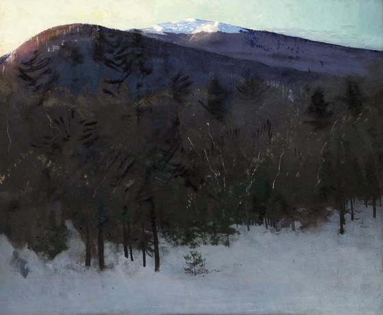Mount Monadnock,Abbott Handerson Thayer,Mountain forest,canvas print,canvas art,canvas wall art,large wall art,framed wall art,p2741