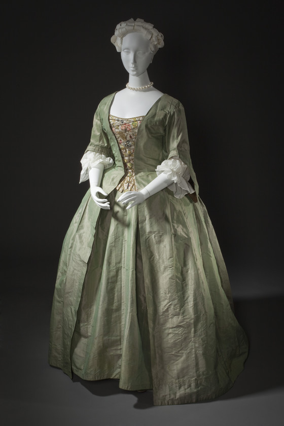 Woman S Dress And Petticoat Robe A La Francaise Lacma Collections