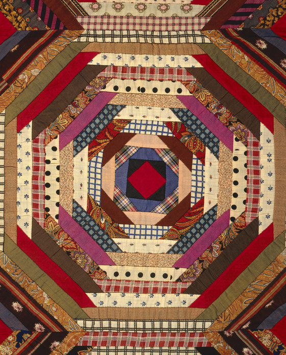 Quilt Log Cabin Pattern Pineapple Variation Lacma
