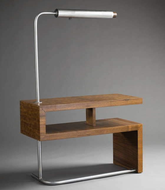 Side Table With Lamp From The Laurel Group
