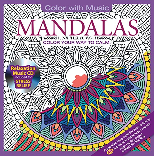 ADULT COLORING BOOK Mandalas Stress Relieving Designs Includes Bonus Relaxation CD Color With Music