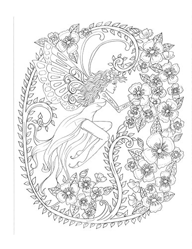 Zendoodle Coloring Magical Fairies Enchanted Pixies To Color And