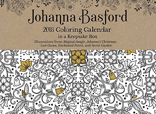 johanna basford 2018 coloring day to day calendar