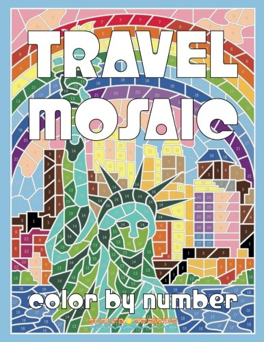 TRAVEL MOSAIC Color by Number: Activity Puzzle Coloring Book for ...