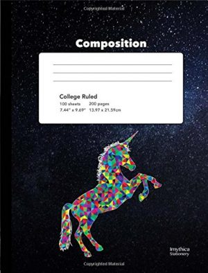 unicorn themed squared graph paper composition book 5 5