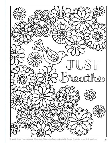 Colorful Creations Positively Inspired Coloring Book Coloring Book