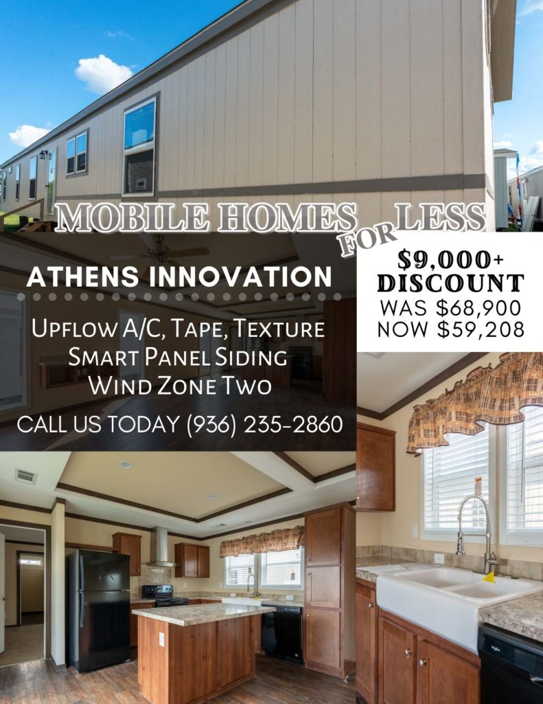 Athens Innovation For Sale From Mobile Homes For Less