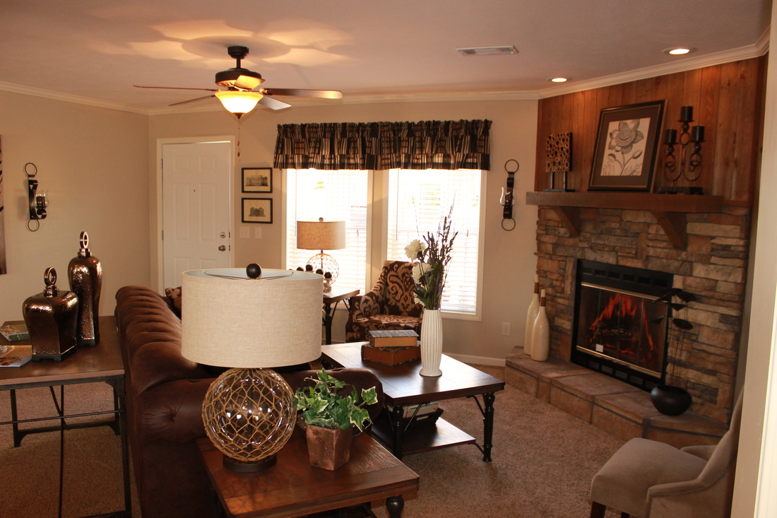Canyon 1/2 Rock Fireplace with Cedar Mantle and Cedar Wall Accent