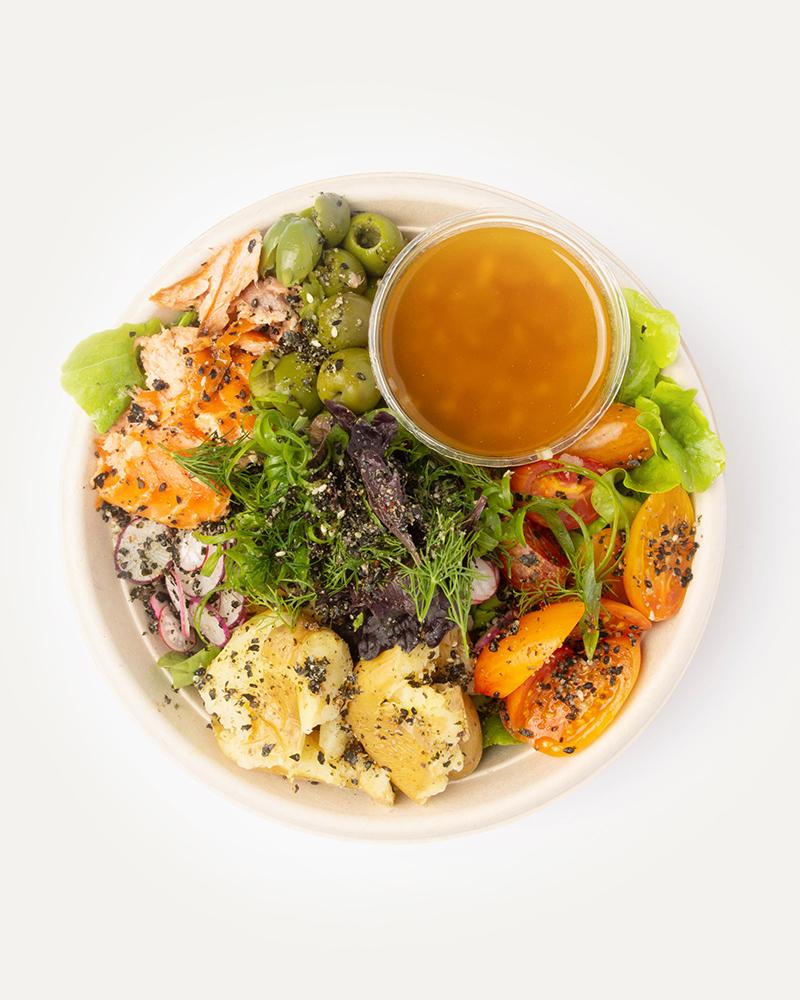 Lightly Smoked Salmon Salad