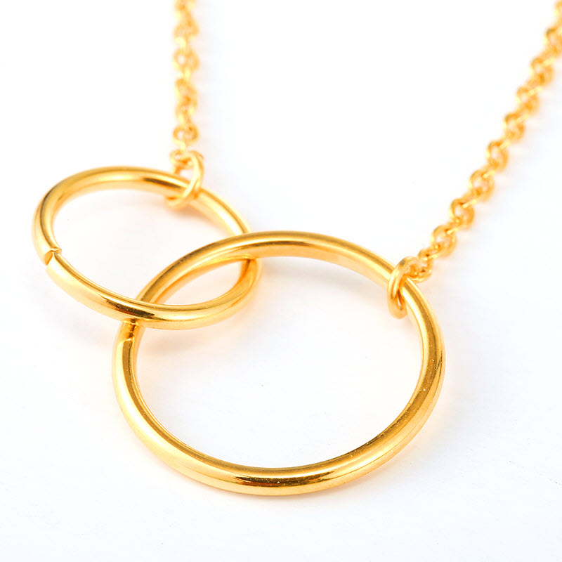 Infinity Double Circle Pendant Necklace1