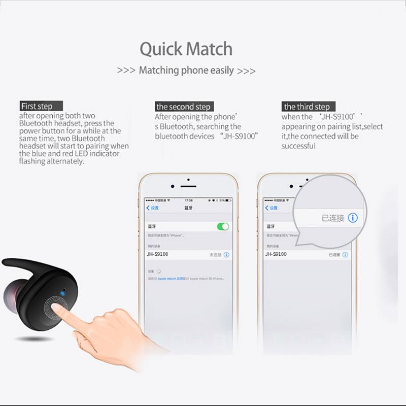 Touch Control Waterproof Earphones021