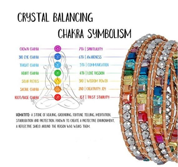 Handmade Rainbow Chakra Bracelet12