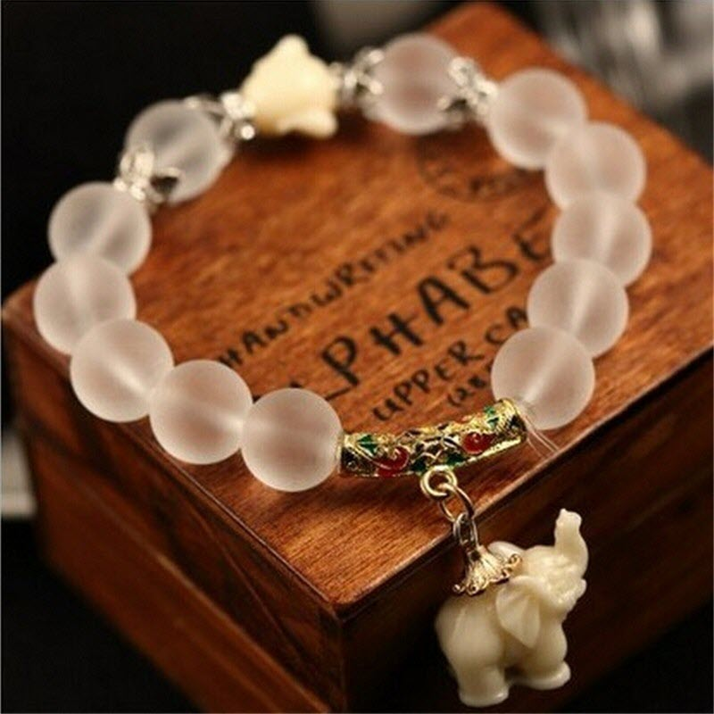 Lucky Elephant Beaded Bracelet1