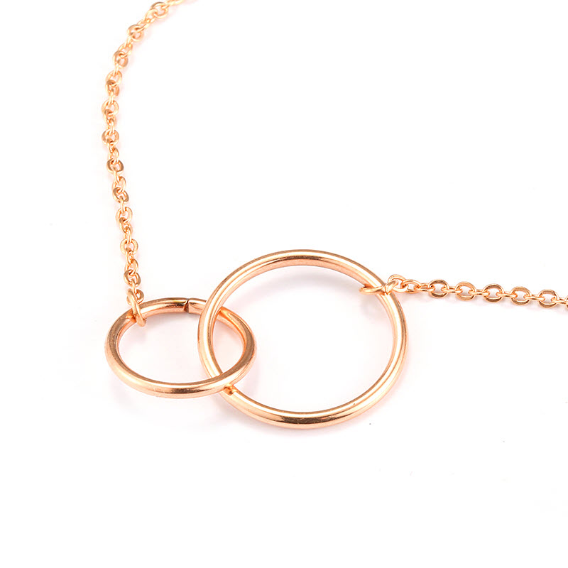 Infinity Double Circle Pendant Necklace3