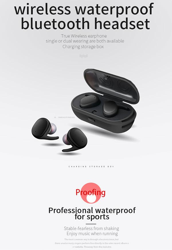Touch Control Waterproof Earphones01