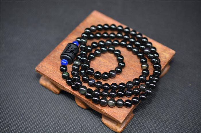 Dragon&Phoenix Obsidian Bracelet11