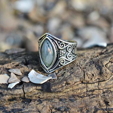 Natural Moonstone 'Full Moon' Ring7