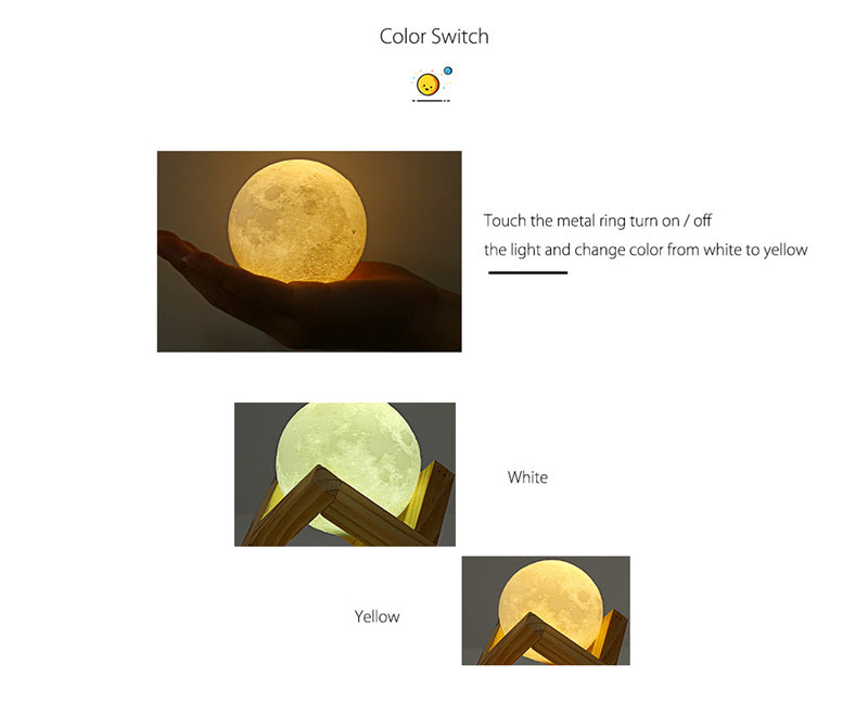 Smart Moon Lamp C