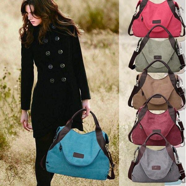 Large Pocket Casual Tote Handbag1