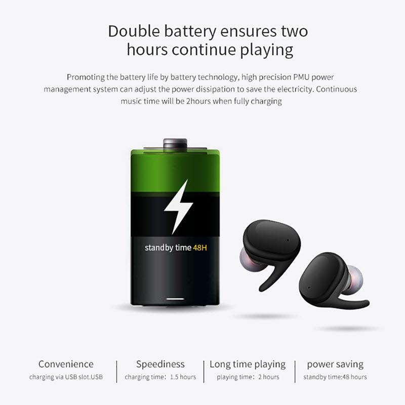 Touch Control Waterproof Earphones017