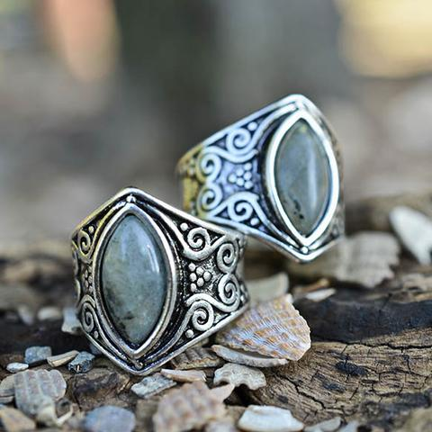 Natural Moonstone 'Full Moon' Ring6
