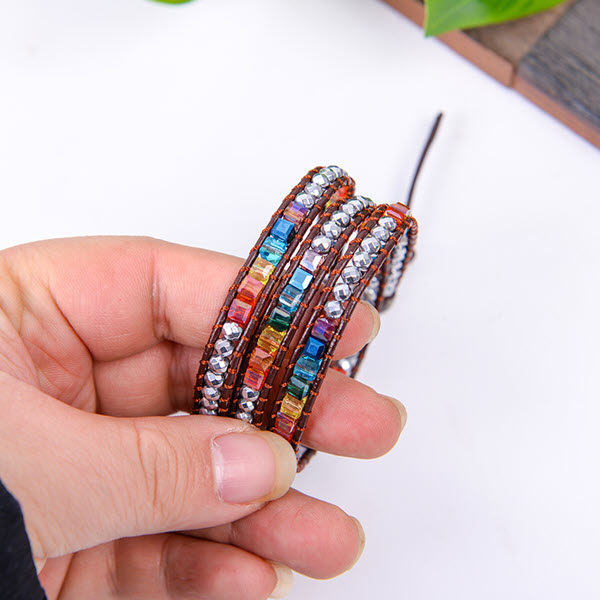 Handmade Rainbow Chakra Bracelet7
