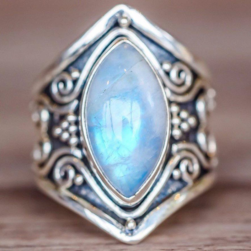 Natural Moonstone 'Full Moon' Ring4