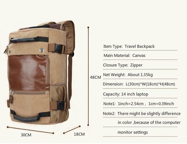 Large Multi Fold Backpack7