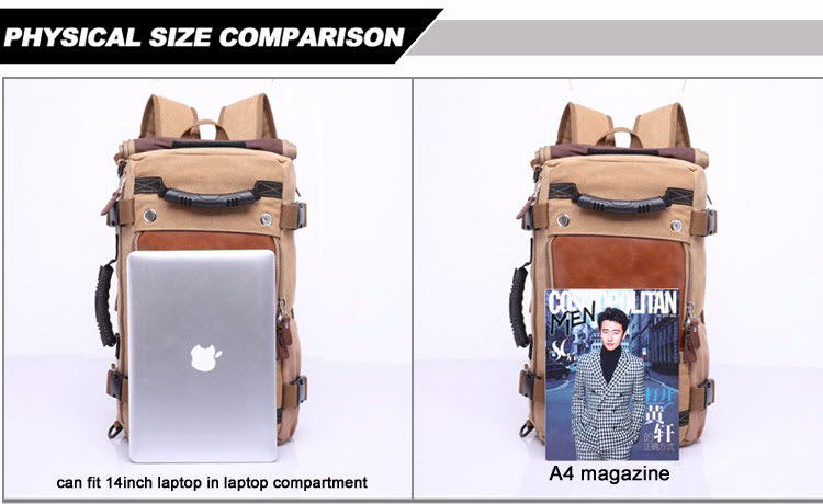 Large Multi Fold Backpack9