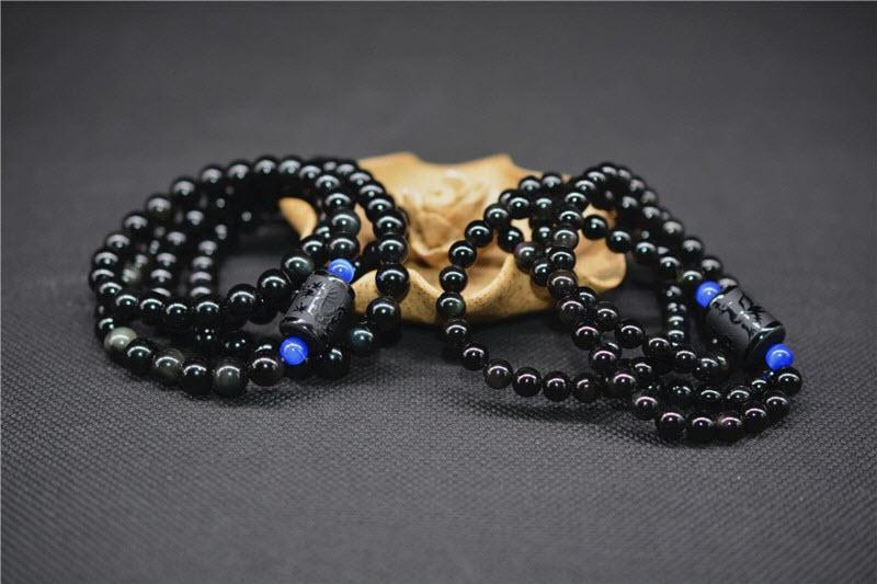 Dragon&Phoenix Obsidian Bracelet8